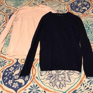 2 long sleeve Zara shirts